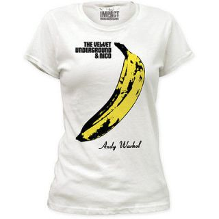 Womens Andy Warhol Velvet Underground Licensed T Shirt Banana