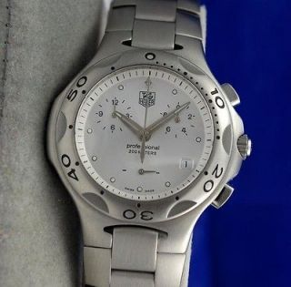 Newly listed Mens / Gents Tag Heuer KIRIUM SS Steel CHRONOGRAPH watch
