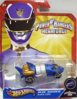 HOT WHEELS 2013 POWER RANGERS MEGAFORCE BLUE RANGER SHARK ZORD 164