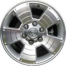 2003 2007 Toyota 4Runner 17x7.5 factory oem 5 spoke silver wheel rim