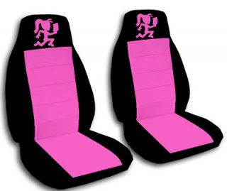 Girl car seat covers in black/pink for 2012 Hyundai Sonata SE seats