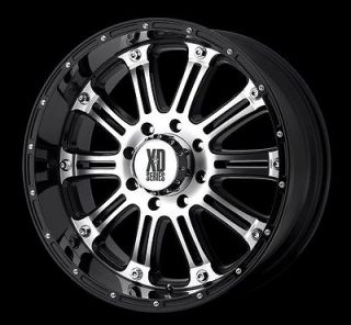 22 BLACK RIMS AND TIRES PKG 6X139 CHEVY GMC TITAN ARMADA SILVERADO XD