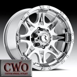 20 Chrome Raceline Raptor Wheels 6x139.7 6 Lug GMC Chevy Tahoe Titan