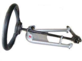 Steering Wheel & Shaft Assembly for Go Kart, Yerf Dog, Spiderbox, DIY
