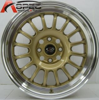 TRACK R2 4X100 +40 ROYAL GOLD WHEEL FITS CIVIC MIATA INTEGRA DEL SOL