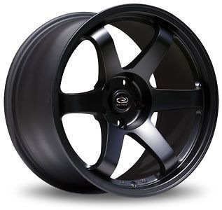 17 ROTA GRID FLAT BLACK RIMS WHEELS 17x9 +42 5x100 SUBARU WRX