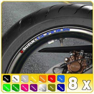 SUZUKI GLADIUS WHEEL RIM STICKERS DECALS sfv 650 B