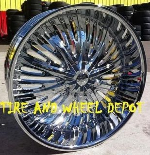24 INCH RSW66 RIMS AND TIRES SIERRA ARMADA YUKON ESCALADE EXT