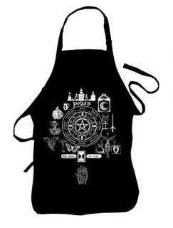 Kitchen Witch Potions Wheel of the Year Apron  Brew up a storm Wiccan