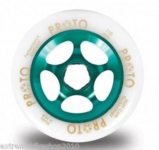 PROTO GRIPPER Wheels 110mm   PRO SCOOTER WHEEL   White On TEAL