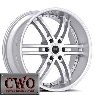 22 Silver Status Knight 6 Wheels Rims 6x139.7 6 Lug Chevy Tahoe