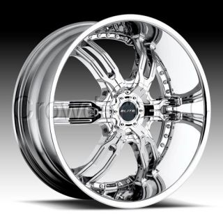 Elite SUV Truck Car Wheel Rim Carnal Chrome 22 in 5 Lug
