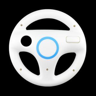 White Steering Wheel For Nintendo Wii Mario Kart Racing Game Remote