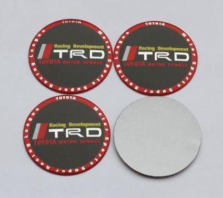 3D Wheel Center Cap Stickers Set Of 4pc Supra Celica Yaris Corolla Trd