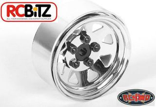 Lug Wagon 1.9 scale Steel Stamped Beadlock Wheels CHROME Pin Mount