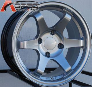 15X8 VarrStoen Wheels 4X100 RIM +0MM OFFSET HYPER SILVER FITS BMW E30