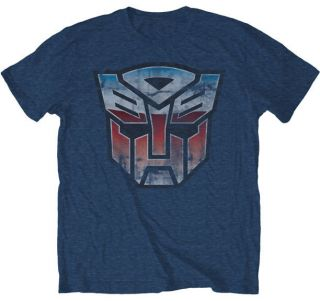 Transformers Vintage Autobot Logo Heather Blue T Shirt