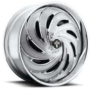 DUB SPIN FLO Wheel SET Chrome Spinner 32x10 RWD 5 & 6 LUG RIMS 32inch
