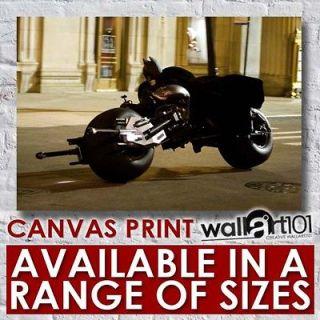 Batman The Dark Knight   Batman On Bike High Quality Framed Canvas Art