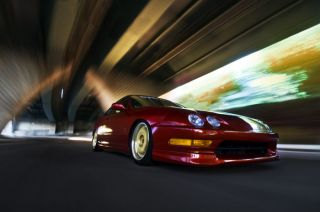 Acura Integra on WORK Wheels HD Poster Print multiple sizes available