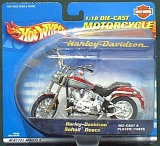Hot Wheels 118 Scale Die Cast Harley Davidson Deuce Softail Classic