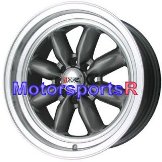 16 16x7 XXR 513 Gun Metal Rims Wheels Deep Dish Step Lip 4x114.3 4x4.5