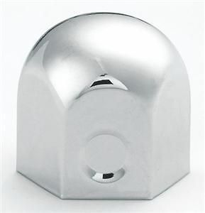 60 Chrome Rounded Top Lug Nut Covers for Trucks with 1 1/2 Lug Nuts