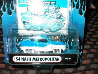 2003 Muscle Machines #7 54 NASH METROPOLITAN blue/white WHITE TIRES