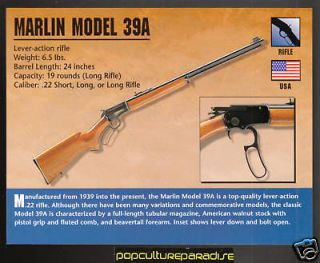 MARLIN MODEL 39A 39 A Atlas Gun Classic Firearms CARD
