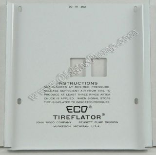 ECO 90 SERIES AIR METER 2 WHEEL FACE PLATE FREE S&H AM 102A