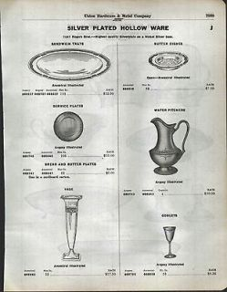 1930 AD 3 Page Wm Rogers & Son Silver Plated Hollow Ware Triumph