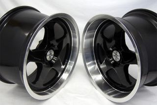 Black Mustang SC Style Wheels 17x9 & 17x10 fits Saleen, 17 inch, 17