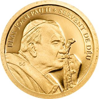 Andorra 2011 Beatification Pope John Paul II solid gold coin Papa Juan