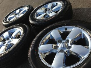 2013 Dodge RAM 1500 Limited Stock 20 Chrome Wheels Rims 275 Goodyear