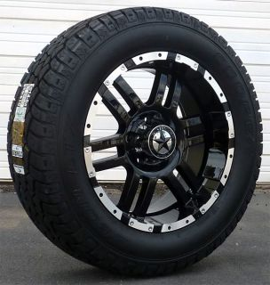 Wheels Tires Dodge Truck RAM 1500 20x9 Gloss Black 20 inch Rims