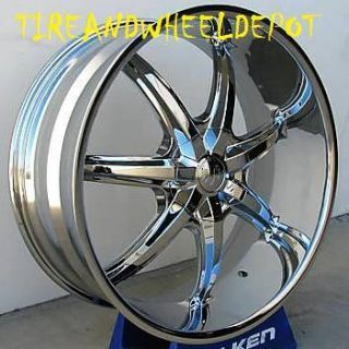 22 inch 35S Rims and Tires Cadillac Mustang Altima Maxima FWD Cars