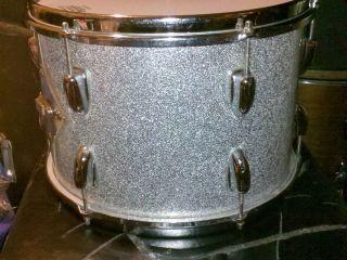Slingerland 13 x 9 Tom Drum Sparkling Silver Pearl COB Rims