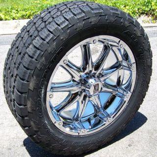 20 Chrome Badlands Wheels Rims Nitto Terra Grappler Tires Chevy GMC
