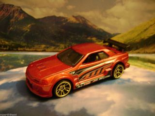 Nissan Skyline GT R 2011 Hot Wheels Nightburnerz Series Red
