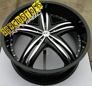 22 inch Set 4 Wheels Tires Rims 5x120 Gianna Envy Chevy Camaro 2010