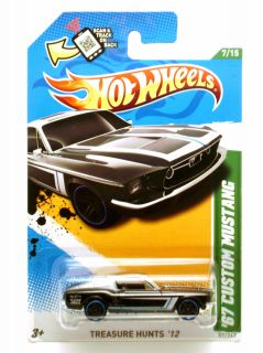 Hot Wheels 2012 Regular Treasure Hunt 67 Custom Mustang