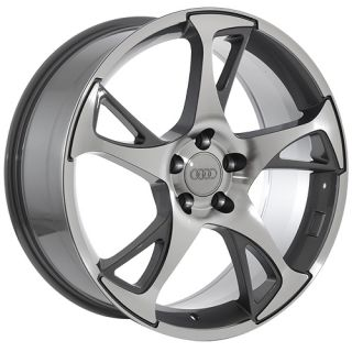 22 Audi Q7 Gunmetal Machined 2012 Style Wheels Rims