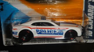2012 Hot Wheels Police 10 CAMARO SS 2010 White HW City Works Rare HTF