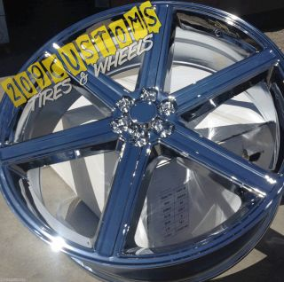 24 INCH WHEELS & TIRES IROC CHROME ESCALADE 2007 2008 2009 2010 2011