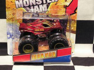 Hot Wheels 2012 Iron Man with Topps Card Monster Jam Truck