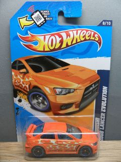 2012 HOT WHEELS 1/64 HEAT FLEET 2008 MITSUBISHI LANCER EVOLUTION # 158