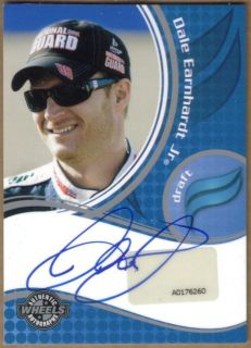 2010 Wheels Dale Earnhardt Jr Draft Authentic Autograph