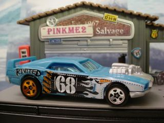 2010 Hot Wheels Demolition Derby EX ★rivited★blue★l K