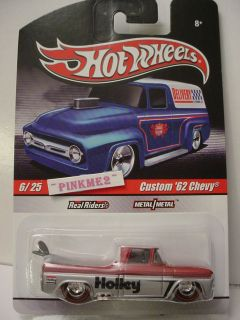 2010 Hot Wheels Delivery Custom 62 Chevy★holley★red Silver