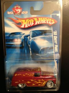 Hot Wheels 2009 Kmart Mail in Promo 55 Chevy Panel Red w Real Riders